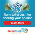 Opinion World. Earn money for your opinion.
